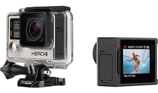 Gopro Hero 4 Silver Edition Lcd 4k+sd 64gb+cabo Usb+bateria