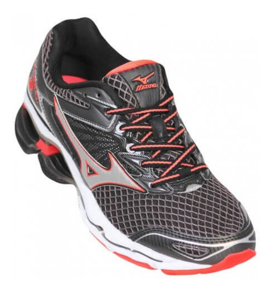 Tênis Mizuno Wave Creation 18 Esportivo Preto 4136571-1191
