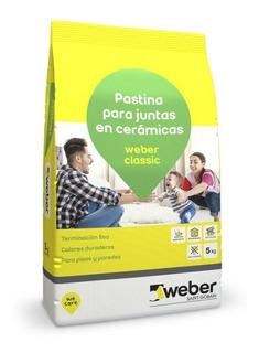Pastina Weber Classic X 5kg Nieve Blanca Ceramicos