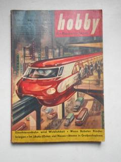Revista Hobby - Maio/1957 - Trem / Ferrovia - 1957