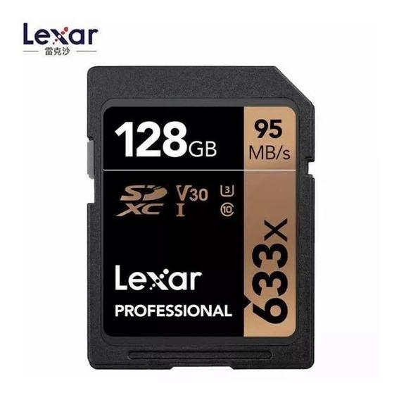 Cartao Sd Sdxc Lexar Profissional 128gb 95mb/s C10 4k 633x