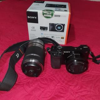 Cámara Sony A6000 + Lente 16-50 Y 55-210mm