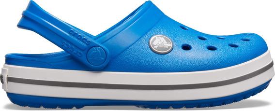 Zapato Crocs Unisex Infantil Crocband Clog Azul Cobalto/gris