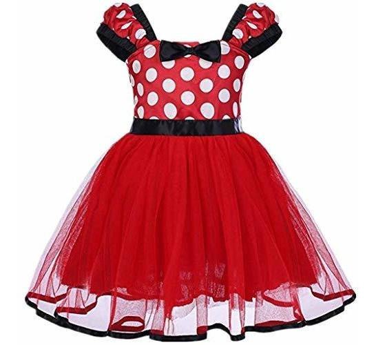 Vestido De Minnie Mouse Hermoso Traje De Fiesta Exquisito 1-