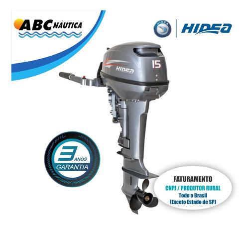 Imagem 1 de 10 de Motor De Popa 15hp Hidea - Leia Anúncio