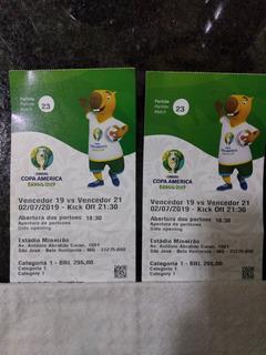 Ingresso Copa América 2019 Semi Final Brasil Argentina