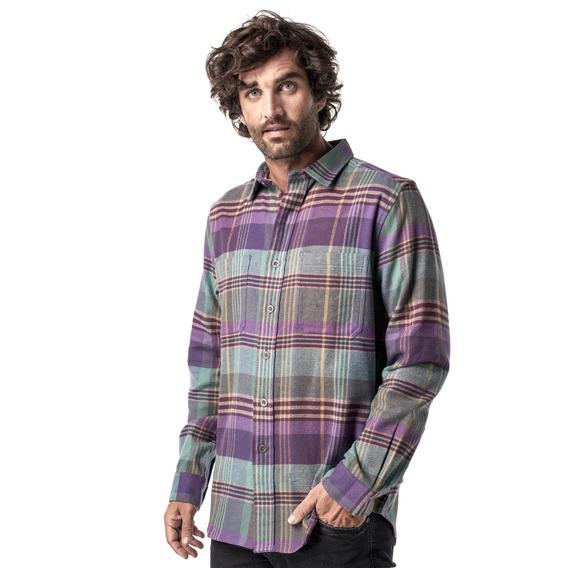 Camisa Hombre Haka Honu Hachazo Morado I19