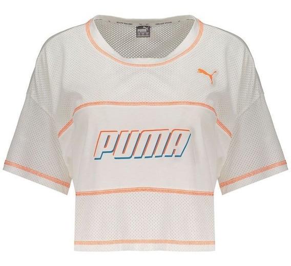 Blusa Cropped Puma Modern Sports Feminino Branca