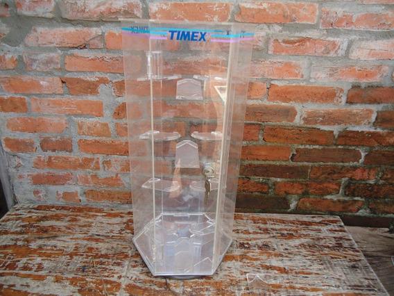 Display Expositor Giratorio Acrílico Relogio Timex Com Chave