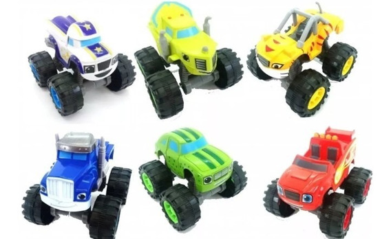 Brinquedo Carrinhos Blaze And Monster Machines 6 Carrinhos