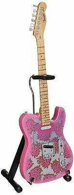 Réplica De Mini Guitarra Telecaster Rosa Paisley En Minia...