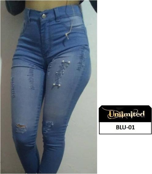 Pantalon Jeans Dama Corte Alto