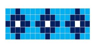Cenefa Azulejo Veneciano Para Alberca / Mod: Cruz Pacifico