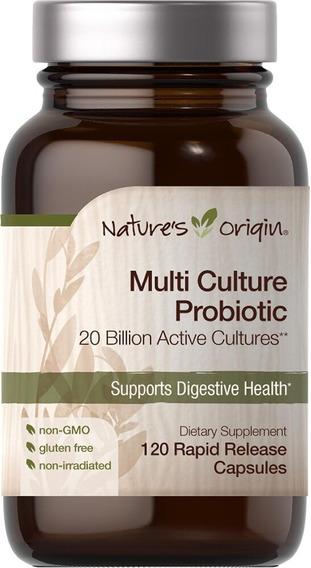 Probiotico 20 Billones Multicepas Lactobacillus 120 Cap