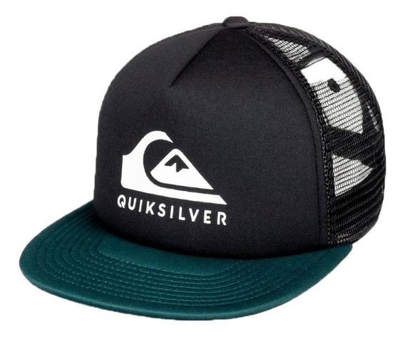 Quiksilver Gorra Lifestyle Hombre Foamslay Negro - Verde