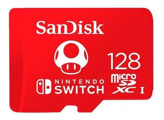Tarjeta De Memoria Sandisk Micro Sd 128gb Nintendo Switch
