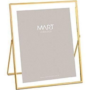 Porta Retrato Dourado Gold Em Metal 20x25 Cm 9117 Mart