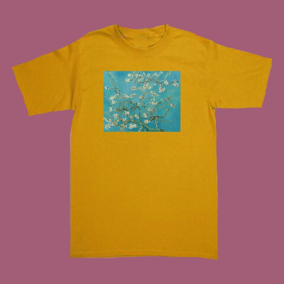 Playeras Retro Aesthetic Van Gogh Almond Flowers