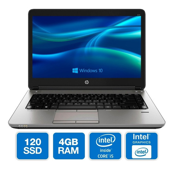 Notebook Hp 640 G2 I5-6300u 4gb Ssd 120gb Windows Oferta Loi