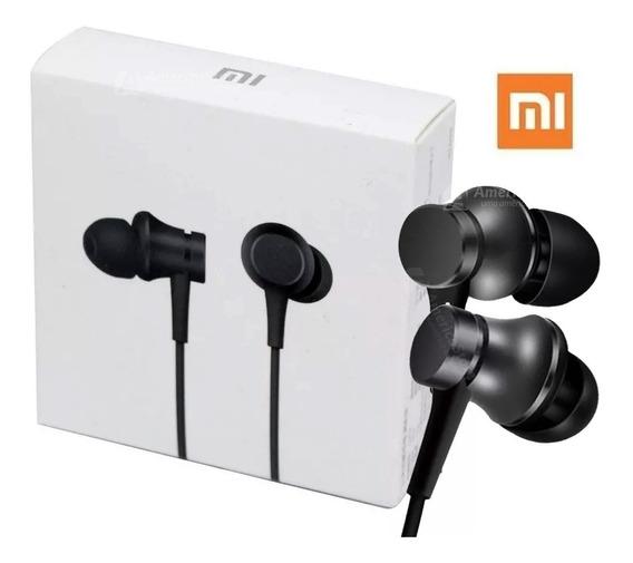 Fone Xiaomi Mi In Ear Com Microfone Preto Original! Pronta Entrega