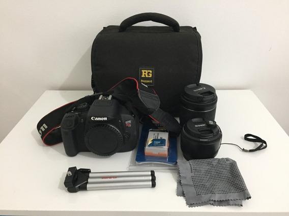 Câmera Canon Eos Rebel T5i Dslr + Lente 50mm + Acessórios