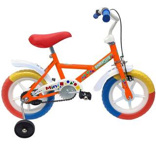 Bicicleta Rodado 12 Enrique Nene Varon Rueditas + Freno