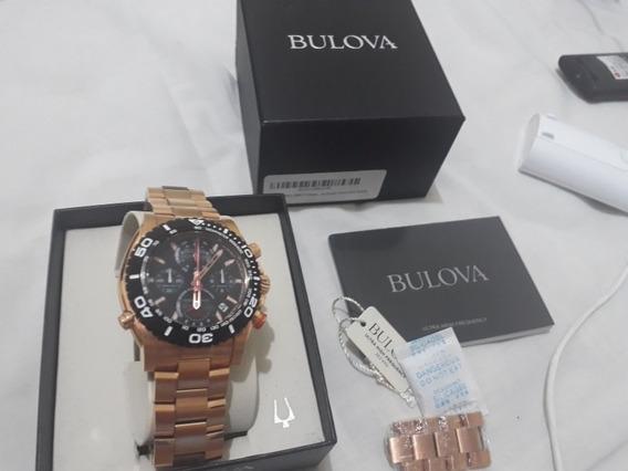 Relógio Bulova Masculino Analógico Ouro Rose 98b213