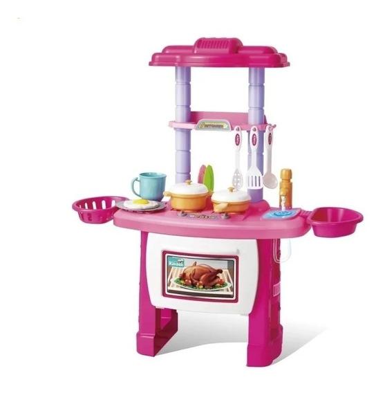 Mini Cozinha Infantil Completa Com 43 Peças Bw091 Importway