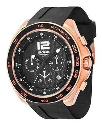 Relógio Seculus Masculino Chronograph 50014gpssru2 Preto