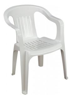 Paquete 5 Sillas Apilable Plastica Blanca 3 Kilos Max Resist
