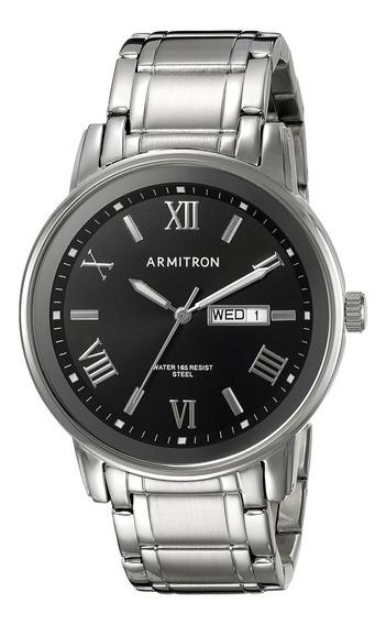 Reloj Con Brazalete De Tono Plateado Armitron Para Hombre