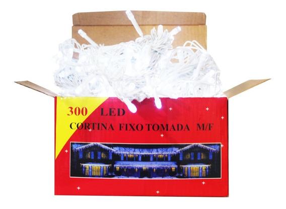 Cortina Led Fixa 300 Led 3mx2m 110v Ou 220v Branca Fria