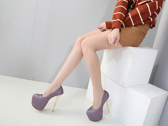 Sapato Feminino Salto Alto Importado