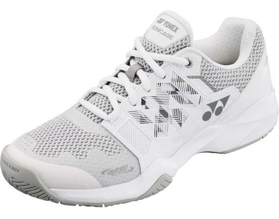 Zapatillas Tenis Padel Yonex Sonicage Blanco / Plata Mujer Baires Deportes Distr Oficial Local En Oeste Gran Bs As