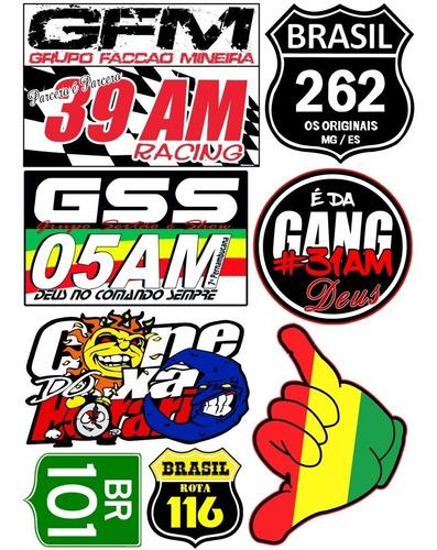 Adesivos Gbn Rota 262 Gang 20x30 Caminhão Qualificado Top