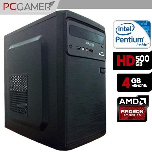 Pc Gamer Basic Dual Core, 4gb, Hd 500gb, Radeon R7 240 2gb
