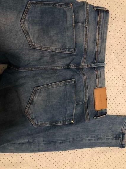 Calça Jeans Slim/ Cigarrete Marca Zara Tamanho 36