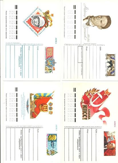Rusia:10 Postales Rusas Sin Circular Década Del 70 Y 80