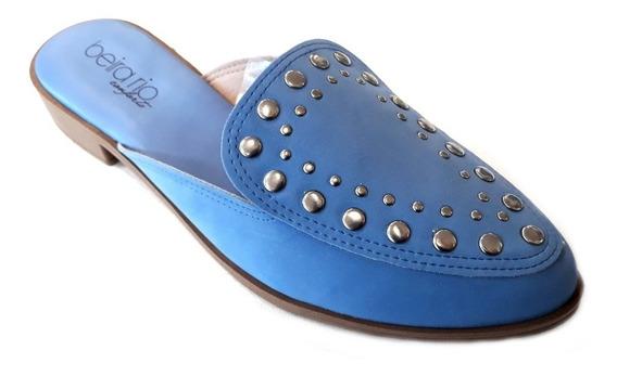 Zapato Mujer Beira Rio Mule Tachas Verano 2019