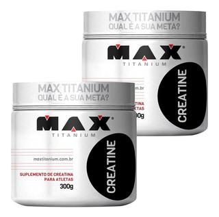 Kit Creatinas 2x Creatina Max Titanium 300g Com Nota Fiscal