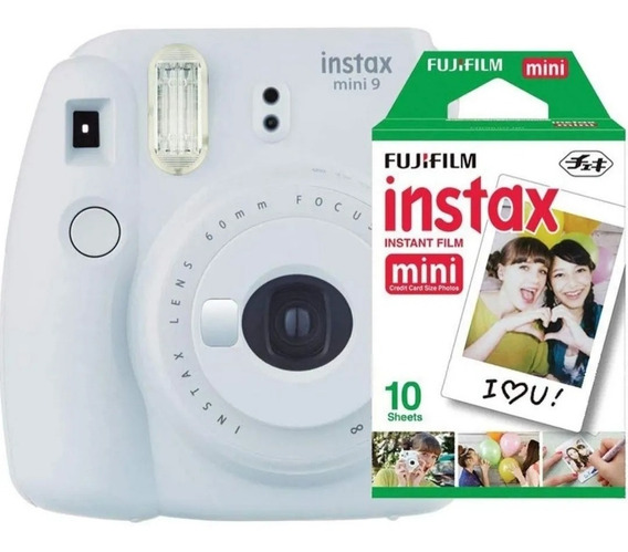 Camera Instax Mine 9 Kit + 10 Poses + Porta Fotos