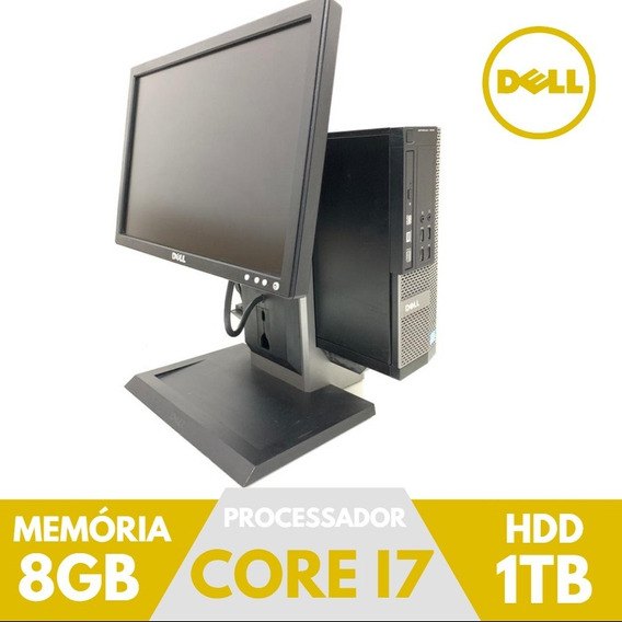 Pc/cpu Dell Barato I7 Ram Hd 1tb Usado Com Monitor 17 Pol