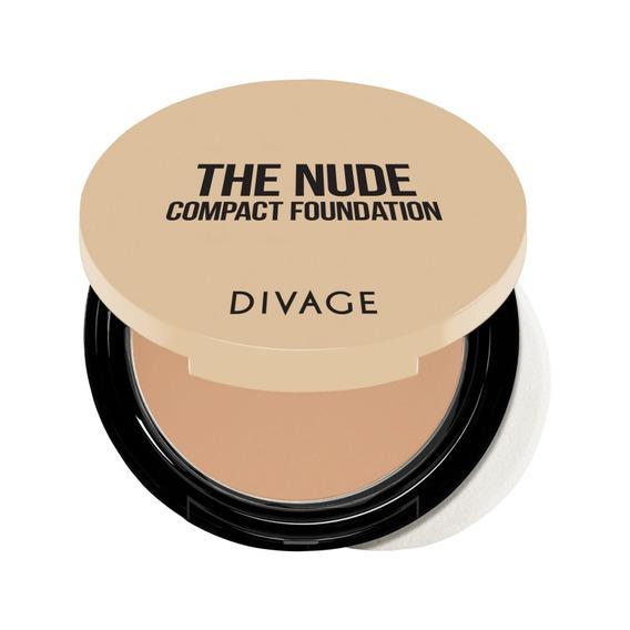 Base De Maquillaje Para Damas Compacta Protector De La Piel Spf 20 Divage The Nude Foundation Con Esponja Y Espejo