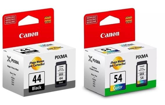 Kit Cartucho Original Canon Pg44 E Cl54 E401 E461 E481 E4210