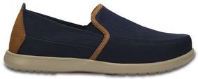 Zapato Crocs Caballero Santa Cruz Deluxe Slip On M Azul