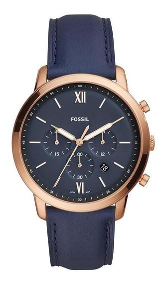 Relógio Fossil Masculino Neutra Chrono Rosé - Fs5454/0an