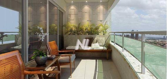 Apartamento Com 3 Suítes À Venda Em Capim Macio, 146 M² Por R$ 1.080.000 - Natal/rn - Ap0578