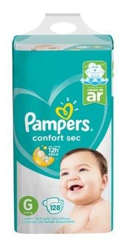 Imagen 1 de 3 de Pañales Pampers Confort Sec G 128- Bebés Y Niños