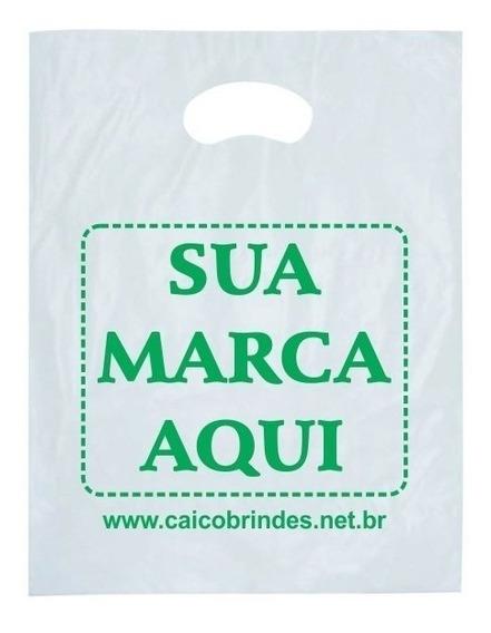 Sacola Personalizada Plastica 40x50 Alça Boca Palhaço 500und