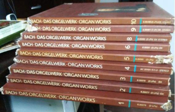 Lp Bach - Obras Completas Para Órgão - Chapuis 18 Discos